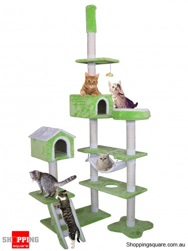 Cat Tree - Pet Cat Kitten Gym Tree Scratch Post Pole 9 Levels  235cm