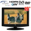 "Vivo 19"" (48cm) LCD HD TV with Built-in DVD Player, HD Tuner,USB, HDMI,12V Adaptor"