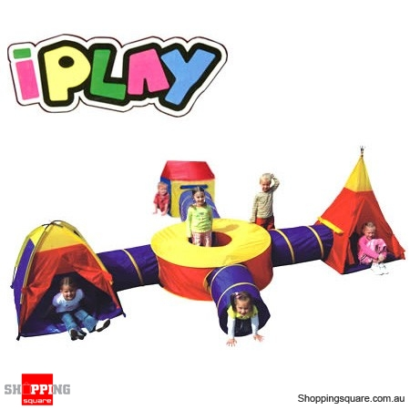 quality design 4655b 02829 Large Kids Teepee and Tunnel Play Tent - Shoppingsquare Australia