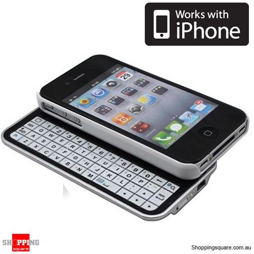 iPhone 4, 4S Bluetooth Slide Keyboard Case White