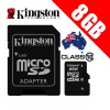 Kingston 8GB Class 10 Micro SDHC Memory Card  SDC10/8GB