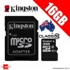 Kingston 16GB Class 10 Micro SDHC Memory Card