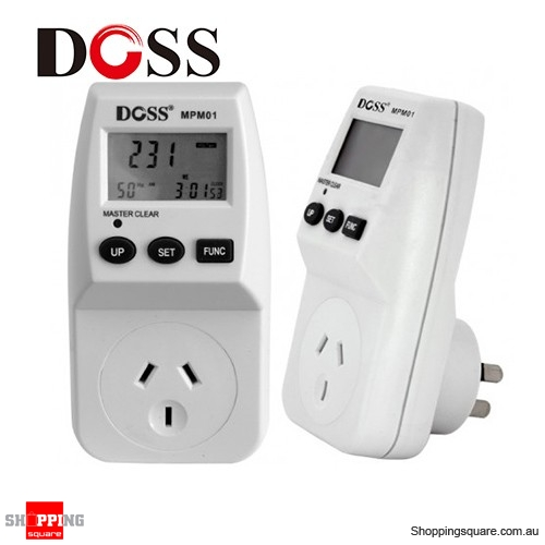 Power Demand Meter : Mains power consumption meter with lcd display