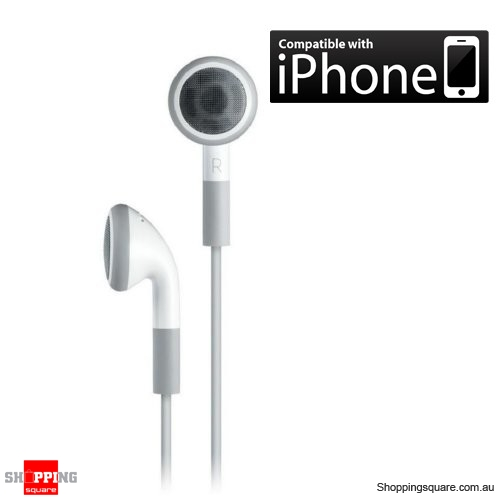 iPod Stereo Earphone, also for iPhone MP3 Player White