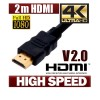2M HDMI Cable v2.0 3D High Speed Ethernet with 4K Ultra HD Gold Plated(v1.4 compatible)