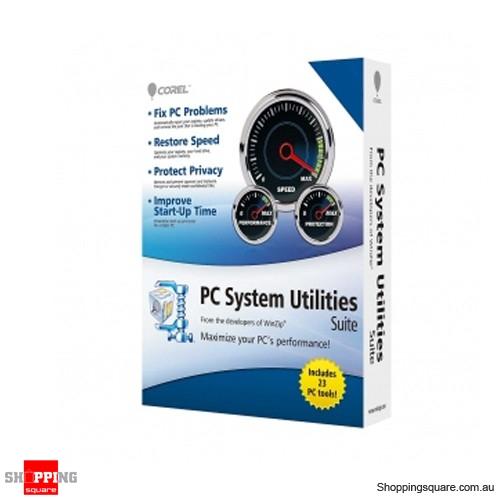 COREL Winzip System Utilities Suite 1 EN Asia 1 User OEM DVD