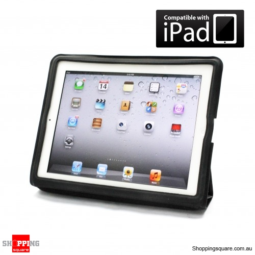 Magnetic Leather Cover for The New iPad, iPad 2 - Back