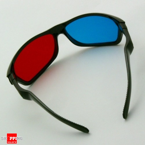 Red & Blue Cyan Anaglyph 3D Glasses for Movie Game DVD ...