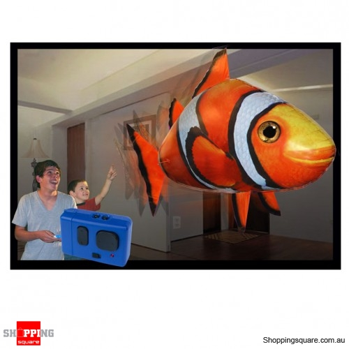 Rc flying clown fish air swimmer remote control fish for Remote control flying fish