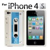 Cassette Tape Silicone Case for iPhone 4 4G 4GS White