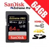SanDisk Extreme Pro 64GB SDXC UHS-1 Card Class 10- 95MB/s Speed