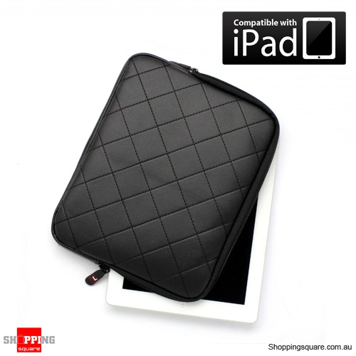 Apple iPad soft Sleeve Skin Case Carry Bag - Black Color