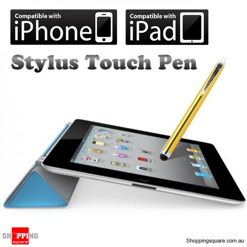 Fashion Stylus Touch Pen Blue for iPhone 5S 5C 5 4S 4 3S 3G, iPad, Samsung, HTC - Gold