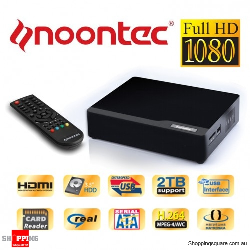 Noontec V7II Full HD Media Player 3.5'' HD HDMI Support MKV, Dixv HD, MPEG