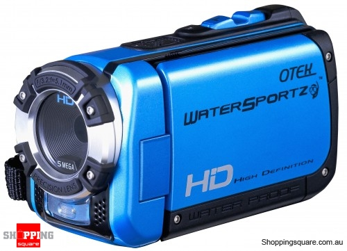 Otek HD Underwater Digital Video Camera Camcorder, WaterProof up to 3 Metres (Blue)