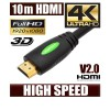 NEW 10M HDMI Cable (V2.0), High Speed with Ethernet and 4K Ultra HD, 3D function