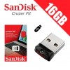 SanDisk Cruzer Fit 16GB CZ33 USB FLASH DRIVE - DS
