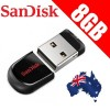 SanDisk Cruzer Fit 8GB CZ33 USB FLASH DRIVE