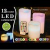12 Colours LED Changing Candles Set with Remote Control