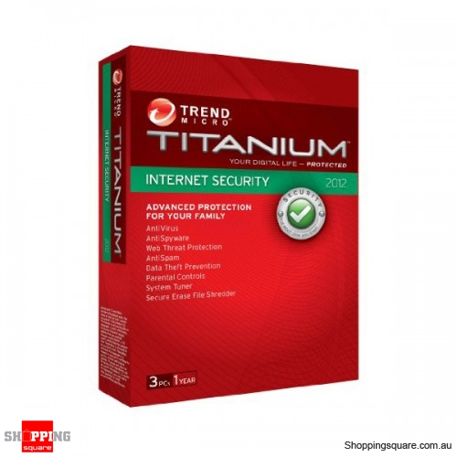 Trend Micro Titanium Internet Security For PC 2012 3 Users OEM package