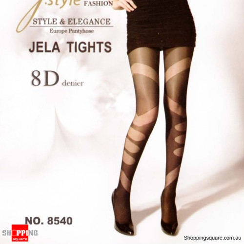 8D Jela Tights Legging TZ8540 - Black