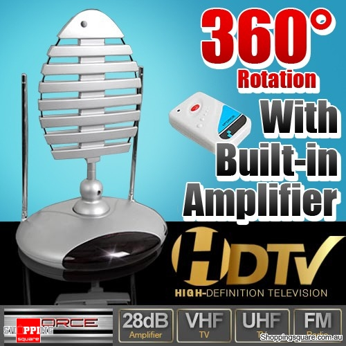 Indoor TV 360 Degree Antenna with Amplifier UHF/VHF/HDTV - Shoppingsquare  Australia