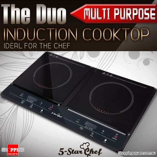 5 star chef multi purpose portable induction duo cooker