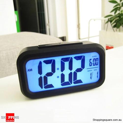 Black Color Snooze/Light Large LCD Digital Backlight Alarm Clock