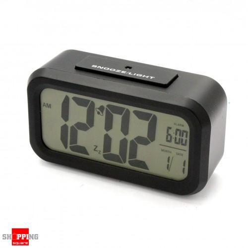 black color snooze light large lcd digital backlight alarm clock online sho. Black Bedroom Furniture Sets. Home Design Ideas