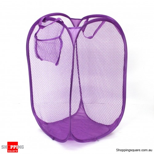 Mesh Laundry Hamper Foldable Mash Clothes Basket Color Random Pick Online Shopping Shopping