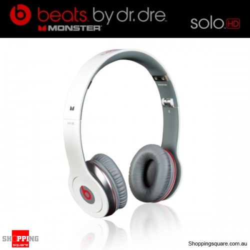 Monster Beats by Dr. Dre Solo HD Headphones White - Online ...
