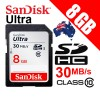 SANDISK ULTRA SDHC 8GB 30MB/s Class 10 SD Card