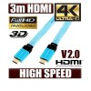 3M Premium Full HD 1080P v1.4 Flat HDMI Cable - Blue