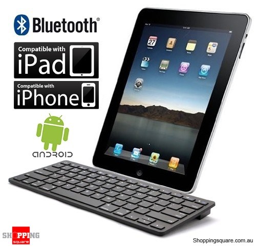 Bluetooth Keyboard For Ipad And Android: Black Colour IPad Wireless Bluetooth Keyboard, Also For IPhone And Android Smart Phone, Tablet