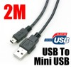 2M USB to Mini USB Charging Data Cable