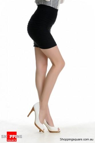 MINI SKIRT Slim Seamless Stretch Tight Short Fitted Girl Black ...