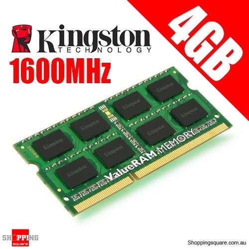 Kingston KVR16S11S8/4 4GB 1Rx8 512M x 64-Bit PC3-12800 CL11 204-Pin SODIMM Laptop Ram