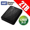 Western Digital My Passport 2TB USB 3.0/USB 2.0 Portable Hard Drives WDBY8L0020BBK