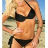 ladies swimsuit push up padded bikini top/bottom Black Colour Size 10