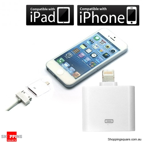 Lightning 8 to 30 Pin Adapter Cable Charger for Apple iPhone 5S 5C 5 NEW iPad 4 Mini
