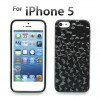 Durable transparent Iphone 5S 5 Crystal Case TPU Black Colour