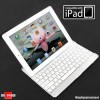 The New iPad, iPad2 SmartBuddy Aluminum Bluetooth Keyboard Case - White Key