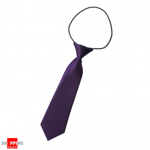 elastic tie necktie purple colour