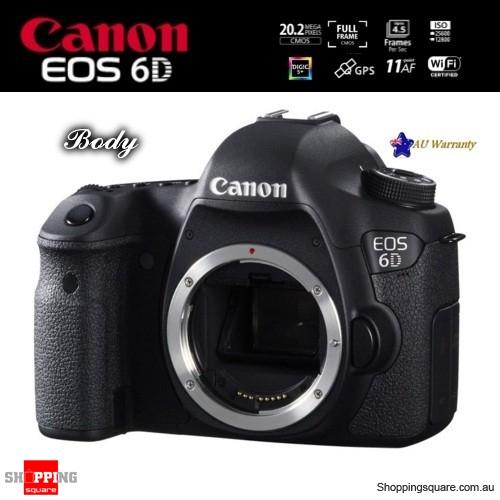 Canon EOS 6D EF 20.2MP Full Frame HD DSLR Wi-Fi Camera Body Black