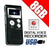 Digital Voice Recorder 8GB Black Colour