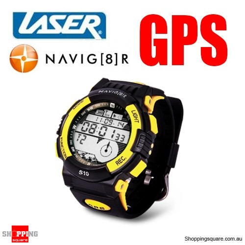 Laser Navig8r GPS sports watch with Google Map tracking
