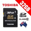 TOSHIBA 32G SDHC Flash Memory Card High-Capacity Class 10