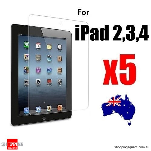 5x iPad Screen Protector Clear for iPad 4th, 3th and 2nd Gen and Retina Display