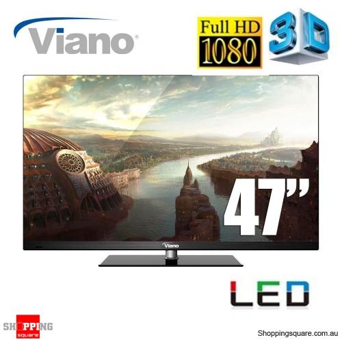 "Viano 47"" Full High Definition 3D 1080p, HDMI, USB"