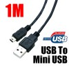 USB to Mini USB Charging data Cable 1 Metre